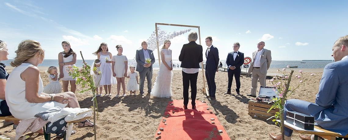 Wedding on the beach, Esbjerg